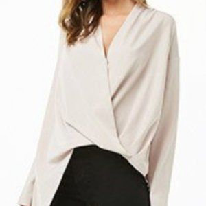 S Forever 21 wrap blouse DO+BE